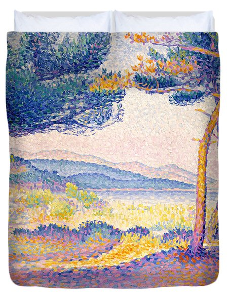 Pines Along The Shore, 1896 Duvet Cover