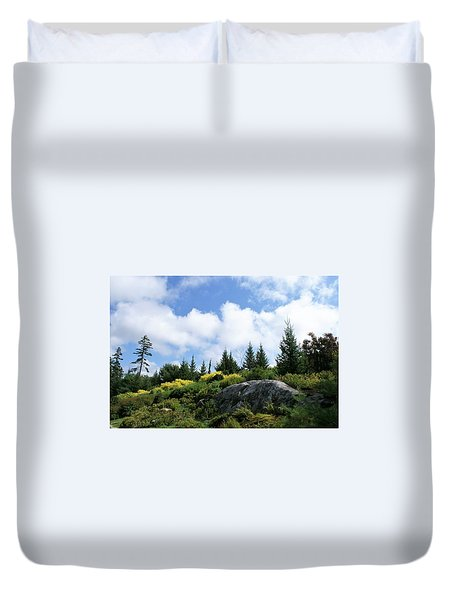 Pines At The Top Duvet Cover by Lois Lepisto