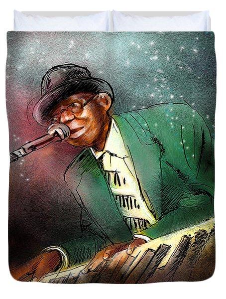Pinetop Perkins Duvet Cover by Miki De Goodaboom