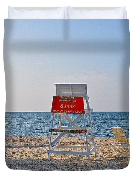 Piney Point Beach Duvet Cover by Bill Cannon