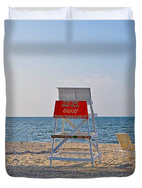Piney Point Beach Duvet Cover