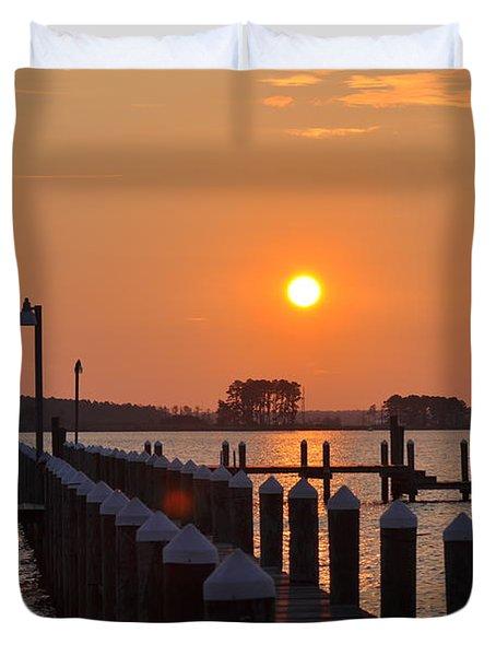Piney Point Sunrise Duvet Cover