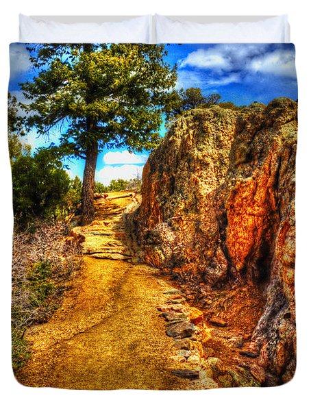 Ponderosa Pine Guarding The Trail Duvet Cover