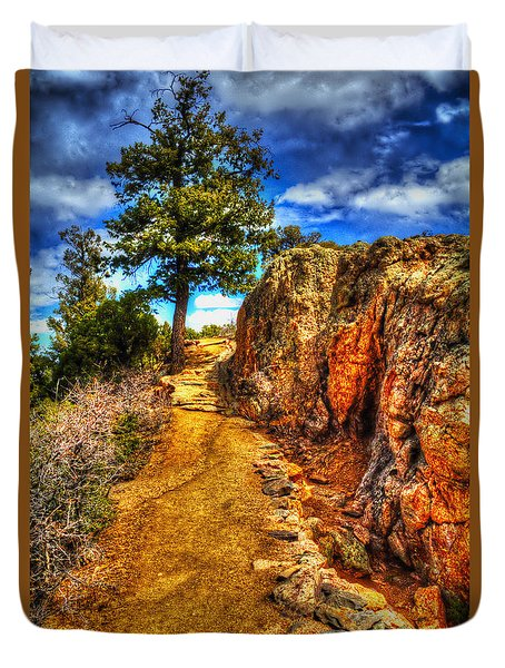 Ponderosa Pine Guarding The Trail Duvet Cover