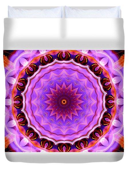 Pink 16-petals Kaleidoscope Duvet Cover