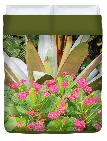 Pink And Spiky Duvet Cover by Kay Gilley