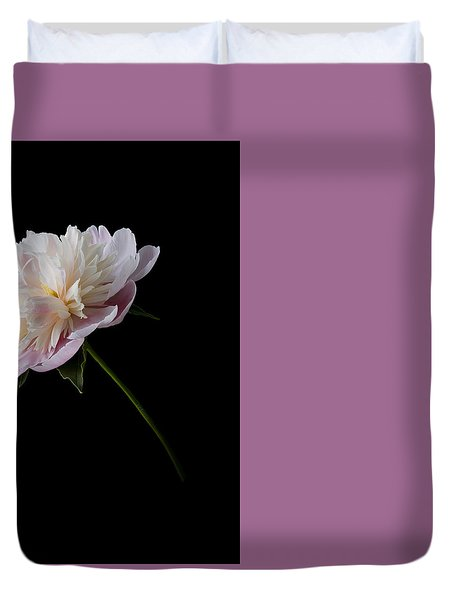 Pink And White Peony Duvet Cover