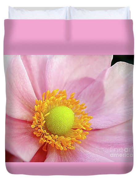 Pink Anemone Duvet Cover by Kaye Menner