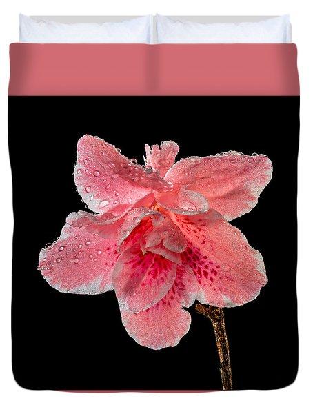 Pink Azalia Drops 2 Duvet Cover