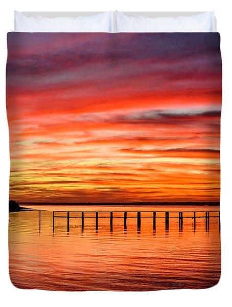 Pink Bay Duvet Cover