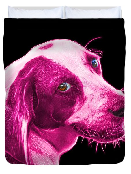 Pink Beagle Dog Art- 6896 - Bb Duvet Cover by James Ahn