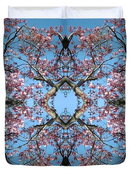 Pink Blossom Mandala Duvet Cover
