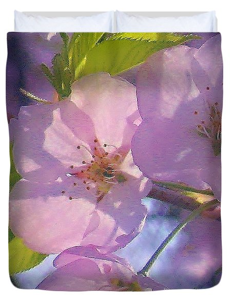 Pink Blossoms 2 Duvet Cover
