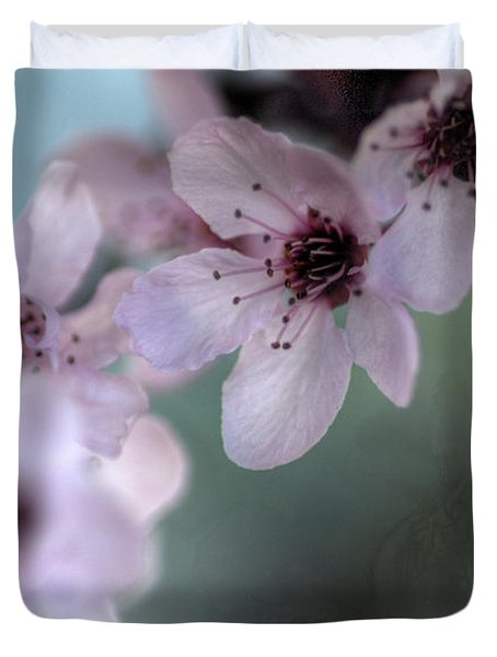 Duvet Cover featuring the photograph Pink Blossoms by Jim and Emily Bush