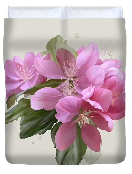 Pink Blossoms Duvet Cover