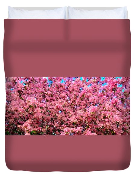 Pink Blossoms Of Spring Duvet Cover
