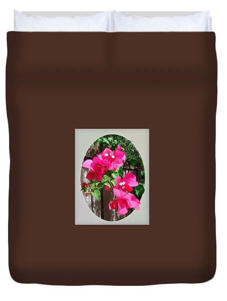 Pink Bougainvillea Duvet Cover