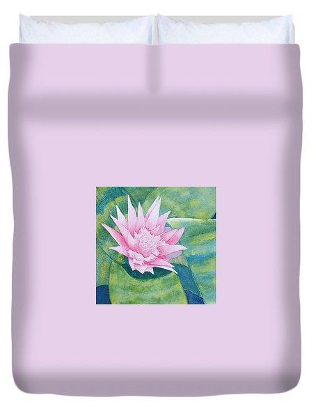 Pink Bromiliad Duvet Cover