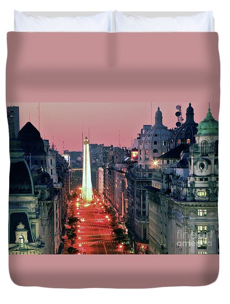 Duvet Cover featuring the photograph Pink Buenos Aires  by Bernardo Galmarini