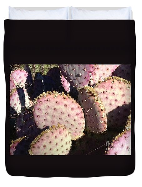 Pink Cacti Duvet Cover