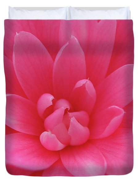 Pink Camellia Duvet Cover by Juergen Roth