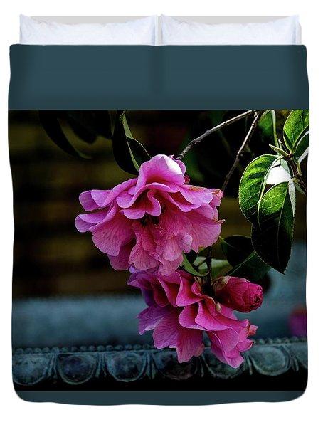 Pink Camellia Duvet Cover