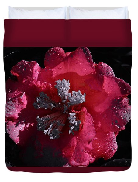 Pink Camillia And Selected Color Duvet Cover