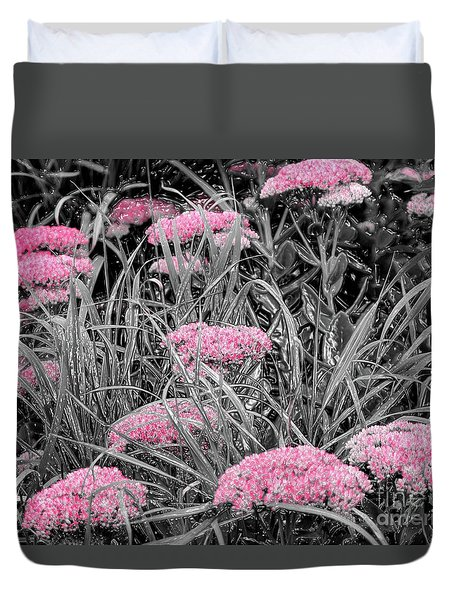 Pink Carved Cowslip Duvet Cover
