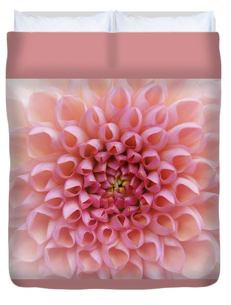 Duvet Cover featuring the photograph Pink Chrusanthemum by Jocelyn Friis