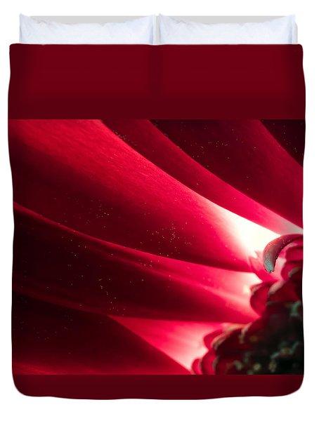Pink Chrysanthemum Flower Petals  In Macro Canvas Close-up Duvet Cover by John Williams