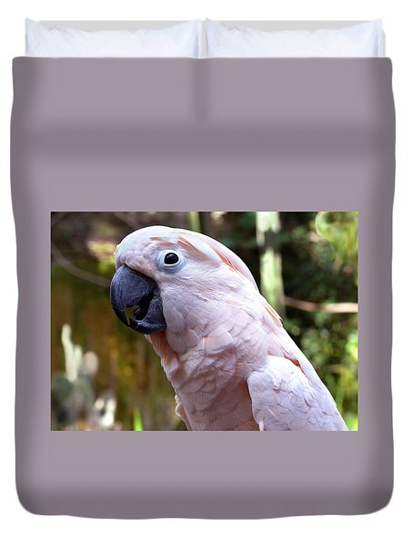 Pink Cockatoo Duvet Cover