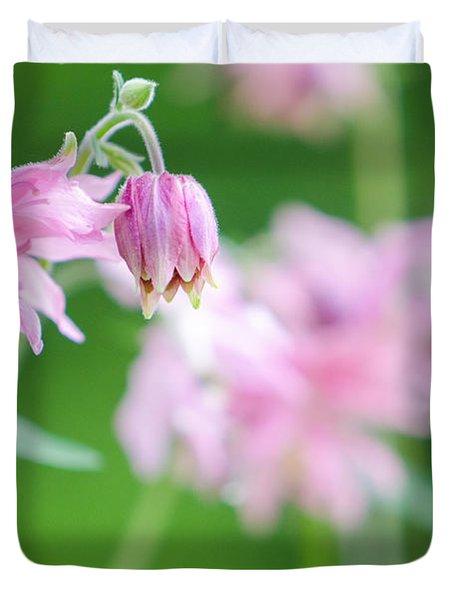 Pink Columbine Duvet Cover