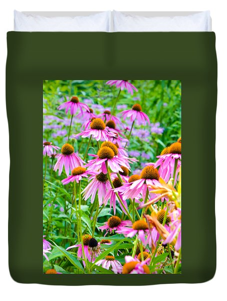 Pink Coneflower Duvet Cover