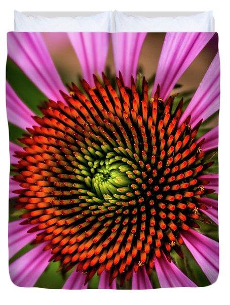 Duvet Cover featuring the photograph Pink Cornflower by Joann Copeland-Paul