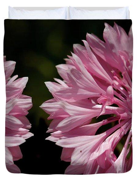 Pink Cornflowers Duvet Cover