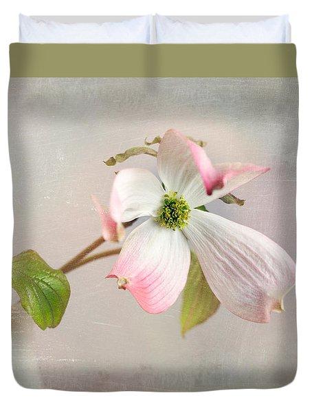 Pink Cornus Kousa Dogwood Blossom Duvet Cover by Betty Denise