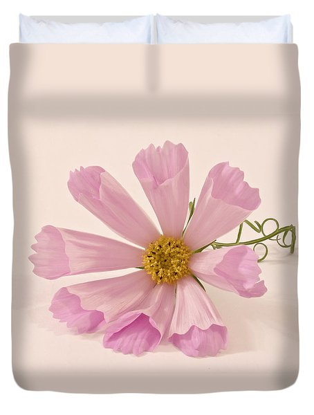 Pink Cosmo - Sea Shell Macro Duvet Cover by Sandra Foster