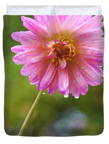 Pink Dahlia 2 Duvet Cover