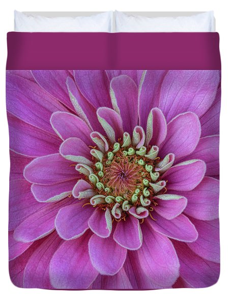 Duvet Cover featuring the photograph Pink Dahlia by Dale Kincaid