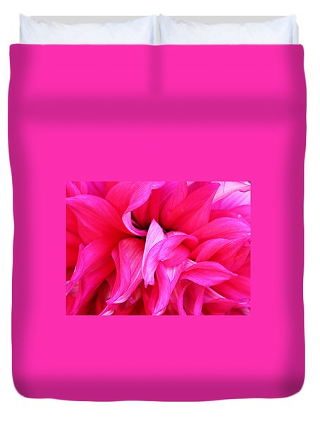 Duvet Cover featuring the photograph Pink Dahlia by Kristin Elmquist