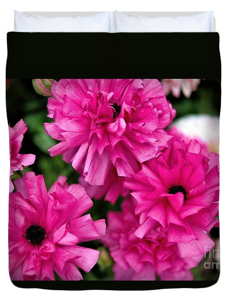 Duvet Cover featuring the photograph Pink by Diana Mary Sharpton