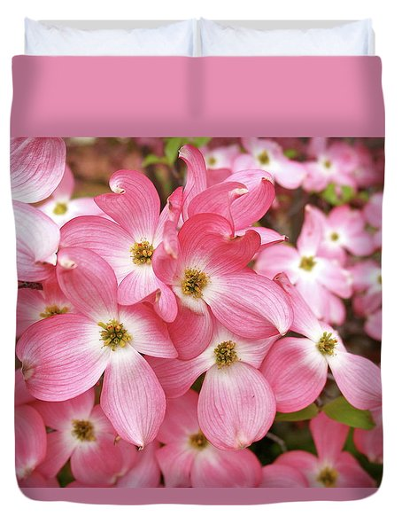 Pink Dogwood Riot Duvet Cover by Michele Myers