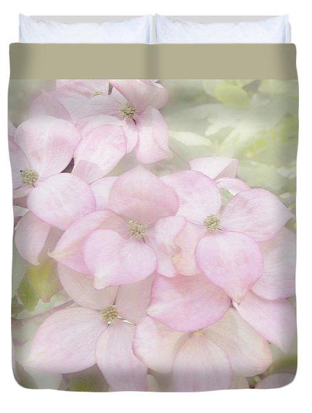 Pink Dogwoods Duvet Cover