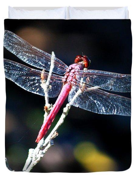 Pink Dragonfly Duvet Cover