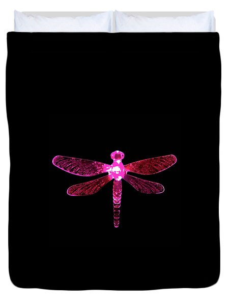 Pink Dragonfly Duvet Cover