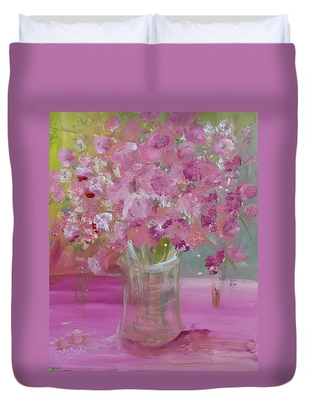 Pink Explosion Duvet Cover
