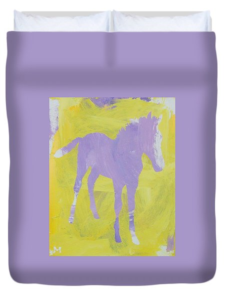 Pink Filly Duvet Cover