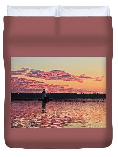 Pink Fire Duvet Cover