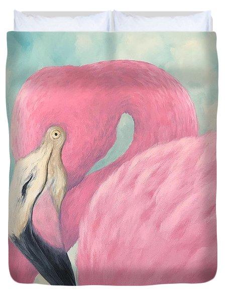 Pink Flamingo V Duvet Cover