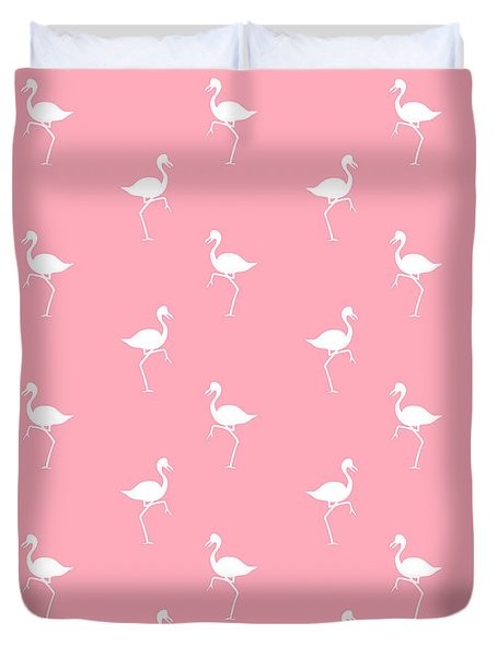 Pink Flamingos Pattern Duvet Cover
